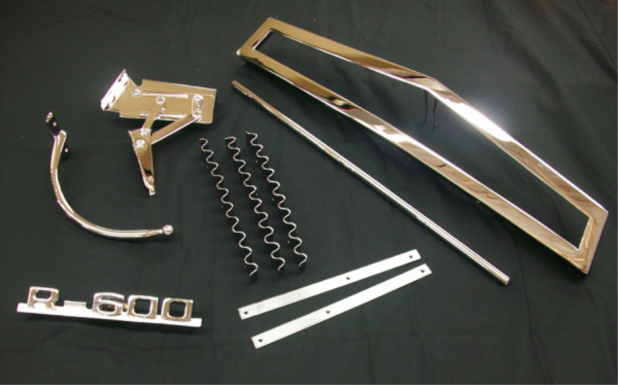 Chrome Plated Plastic Parts & Chrome Plating Plastic RoHS Compliant Trivalent Chemistry